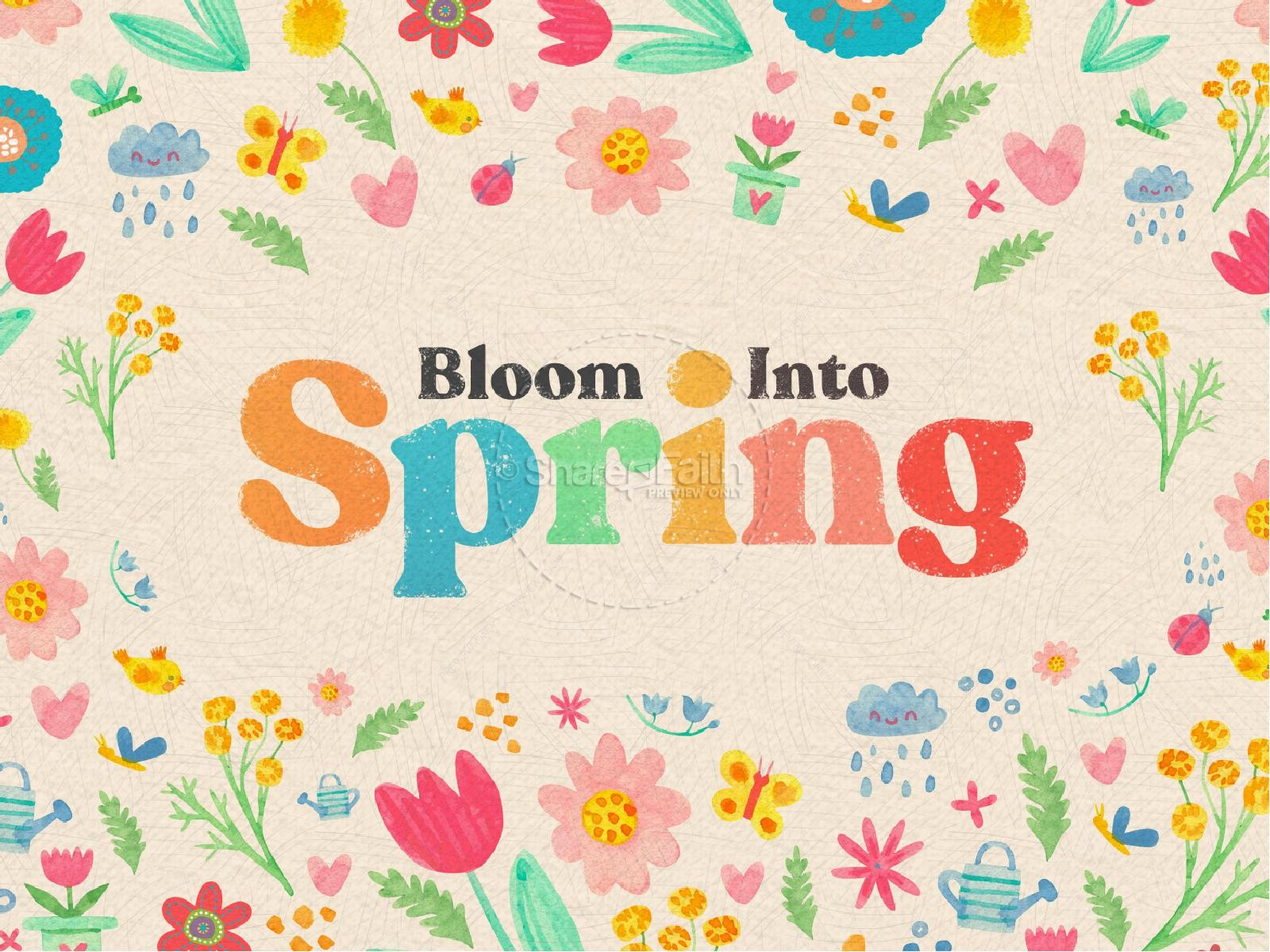 Spring Blooms Church PowerPoint