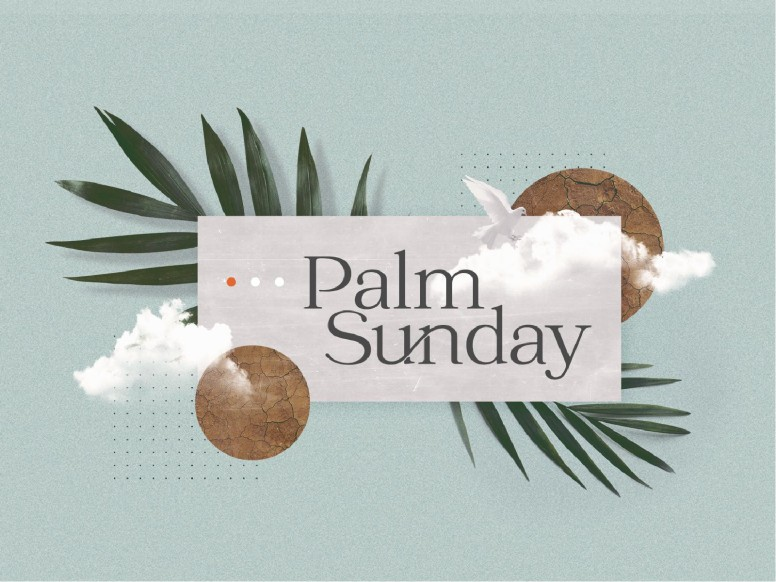 Palm Sunday Blue Church PowerPoint