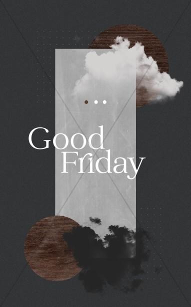 Good Friday Cloud Church Bifold Bulletin