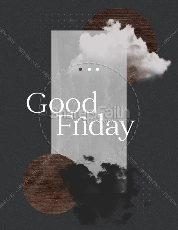 Good Friday Cloud Church Flyer
