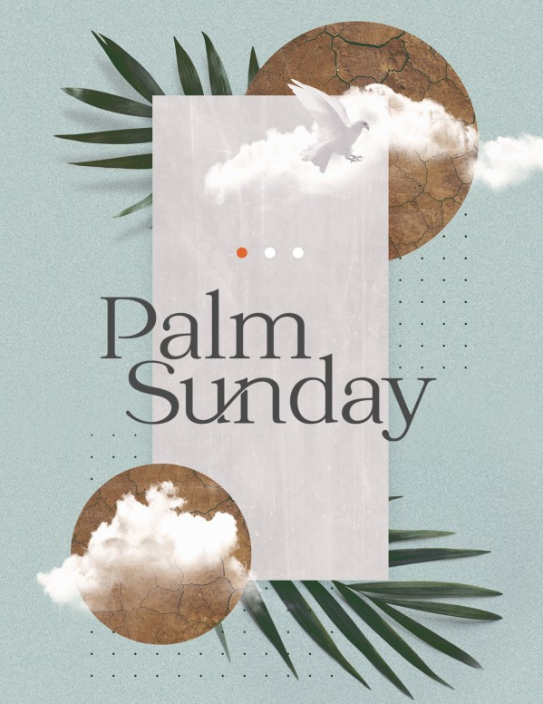 Palm Sunday Blue Church Flyer