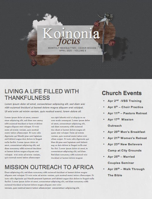 Good Friday Cloud Church Newsletter