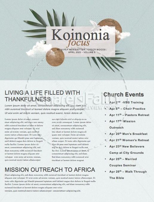 Palm Sunday Blue Church Newsletter