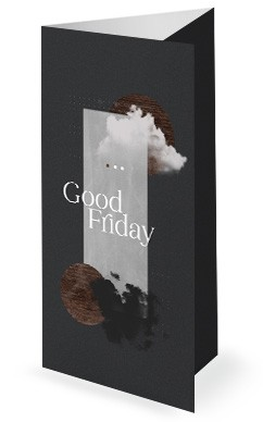 Good Friday Cloud Church Trifold Bulletin