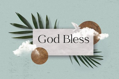 Palm Sunday Blue God Bless Church Video