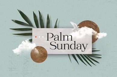 Palm Sunday Blue Title Church Video