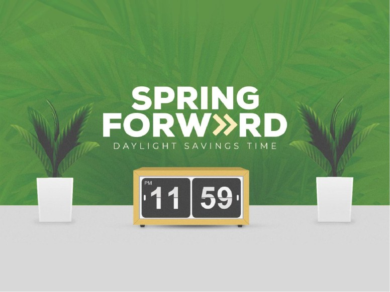 Spring Forward Green Church PowerPoint