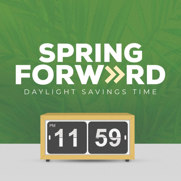 Spring Forward Green Social Media Graphic