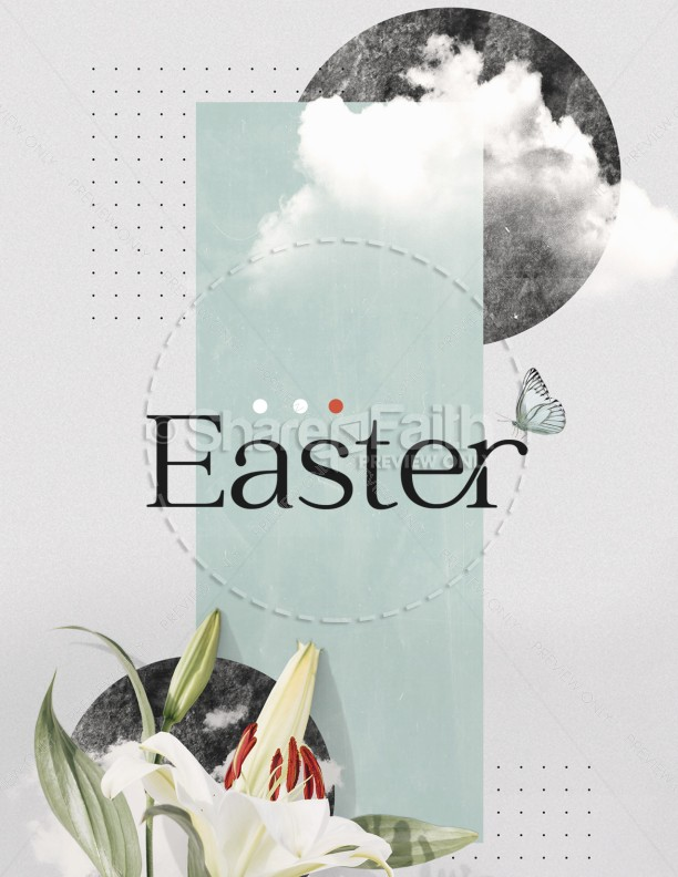Easter Lily Church Flyer