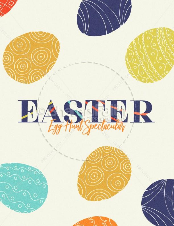 Egg Hunt Spectacular Church Flyer