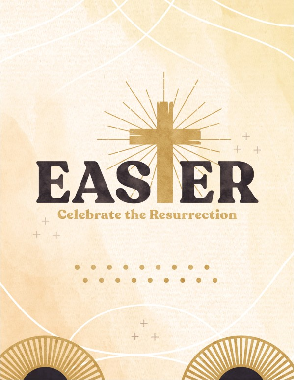 Easter Resurrection Church Flyer