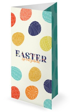 Egg Hunt Spectacular Church Trifold Bulletin