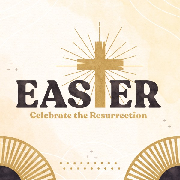 Easter Resurrection Social Media Graphic