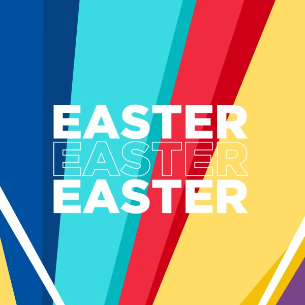 Easter Bright Colors Social Media Graphic