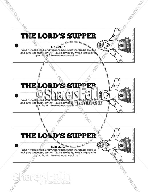 Luke 22 The Lords Supper Bible Bookmarks