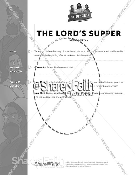 Luke 22 The Lords Supper Curriculum