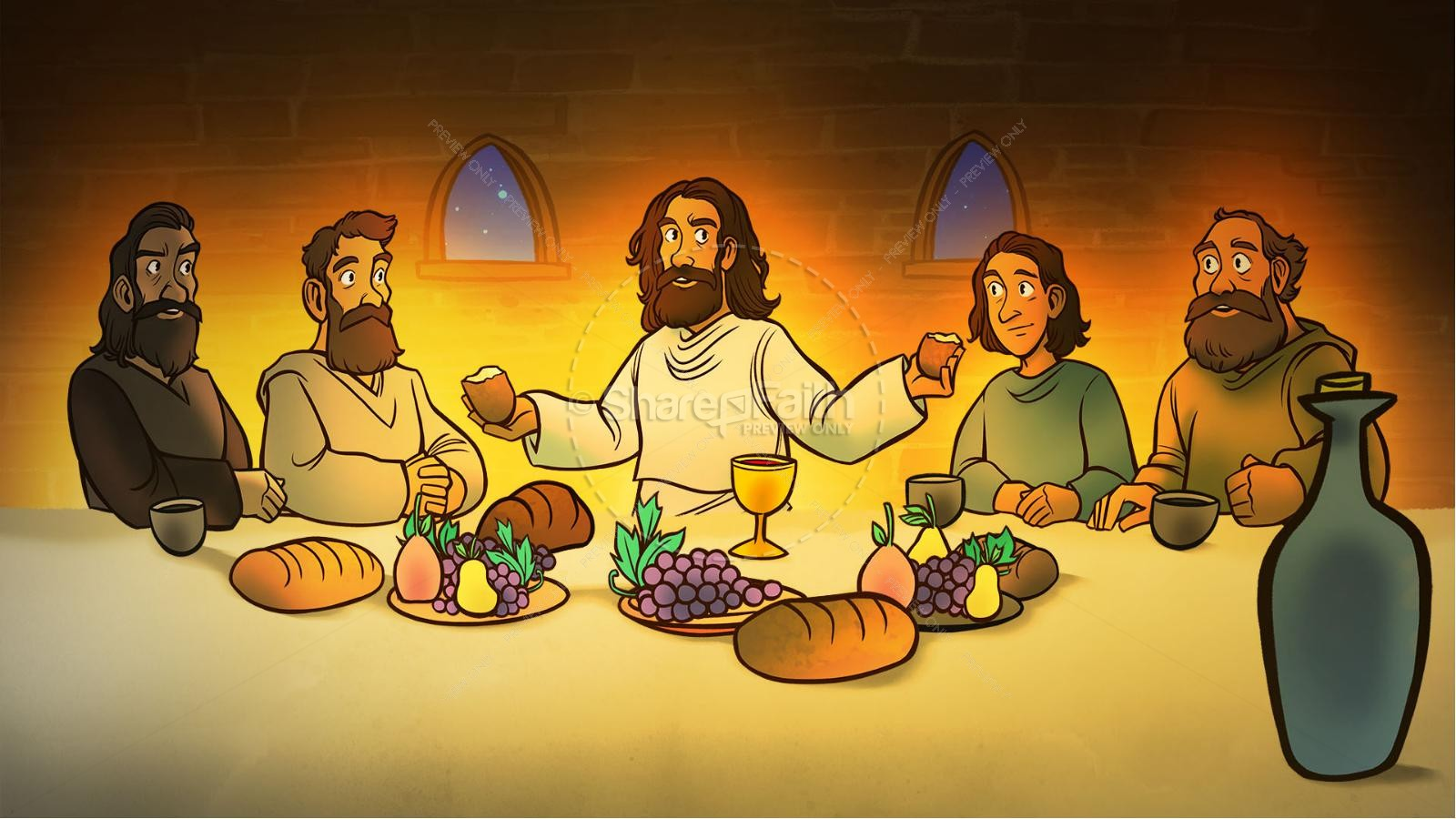 Luke 22 The Lords Supper Kids Bible Story