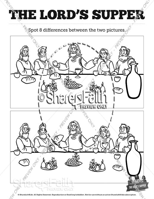 Luke 22 The Lords Supper Spot the Differences
