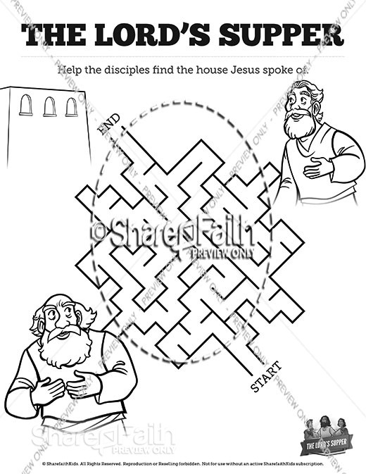 Luke 22 The Lords Supper Bible Mazes