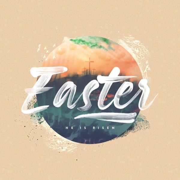 Easter Sunrise Social Media Graphic