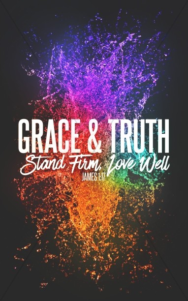 Grace And Truth Church Bifold Bulletin