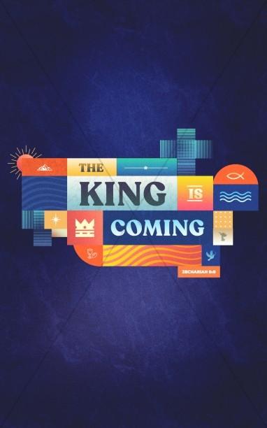 King Is Coming Church Bifold Bulletin