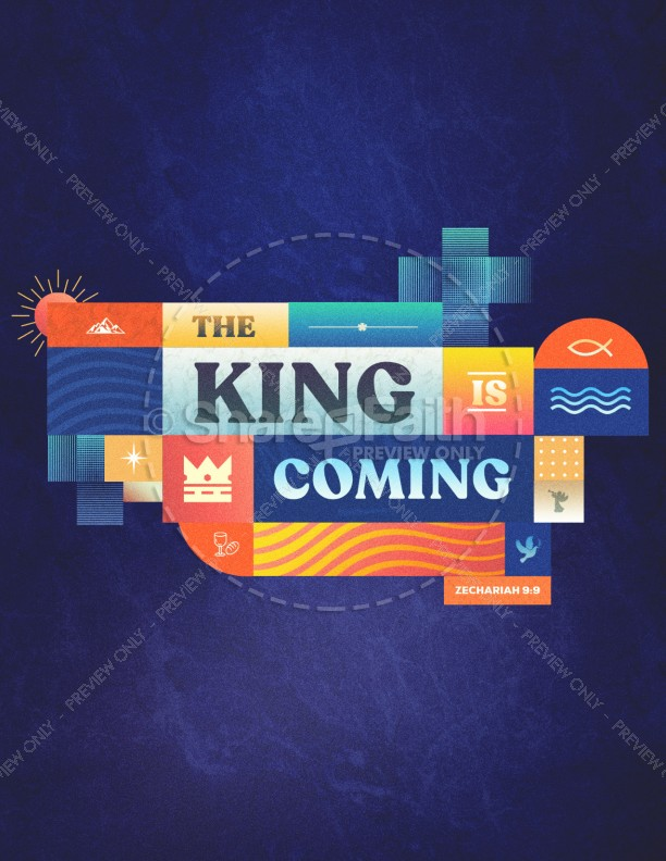 King Is Coming Church Flyer