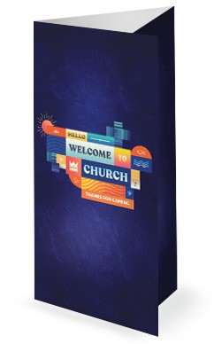 King Is Coming Church Trifold Bulletin
