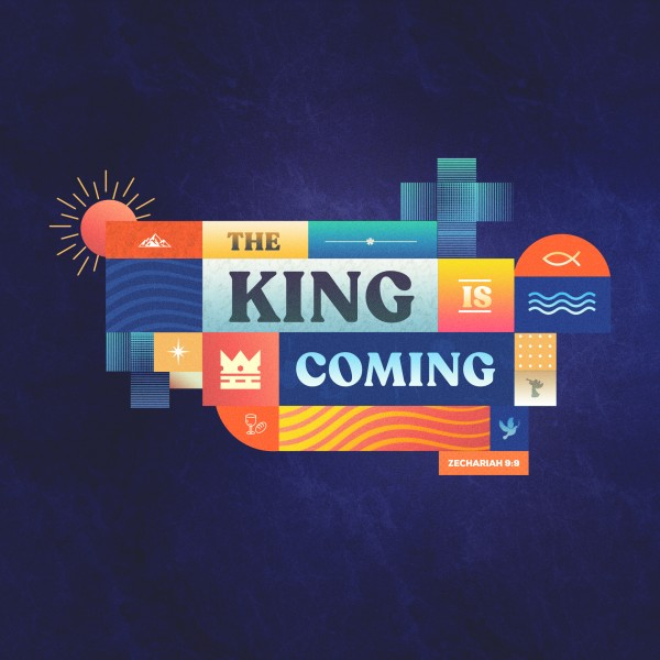 King Is Coming Social Media Graphic