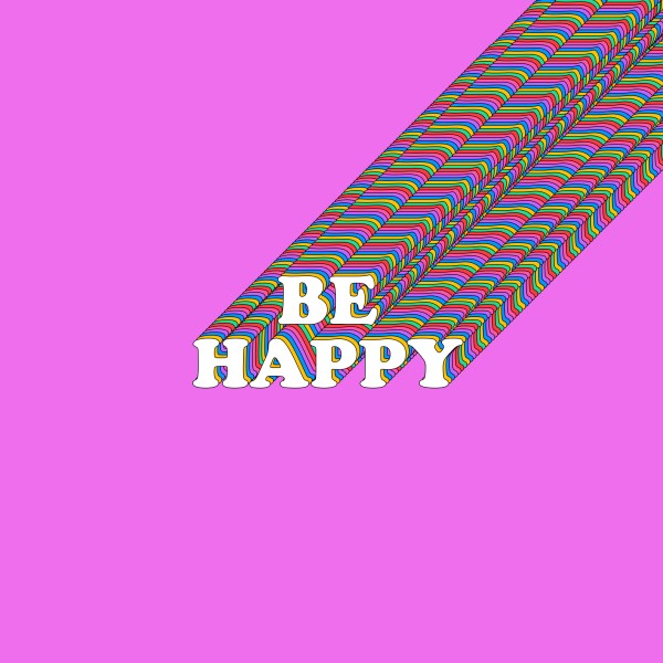 Be Happy Social Media Graphic