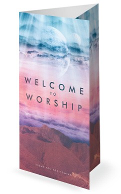 Heaven On Earth Church Trifold Bulletin