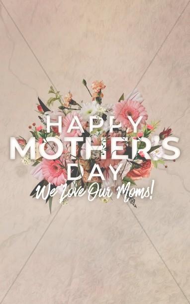 Mother's Day Flowers Church Bifold Bulletin