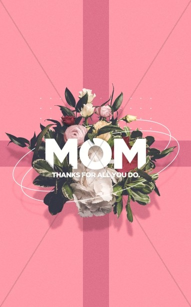 Mother's Day Pink Church Bifold Bulletin