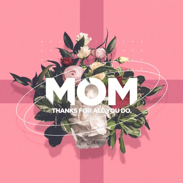 Mother's Day Pink Social Media Graphic