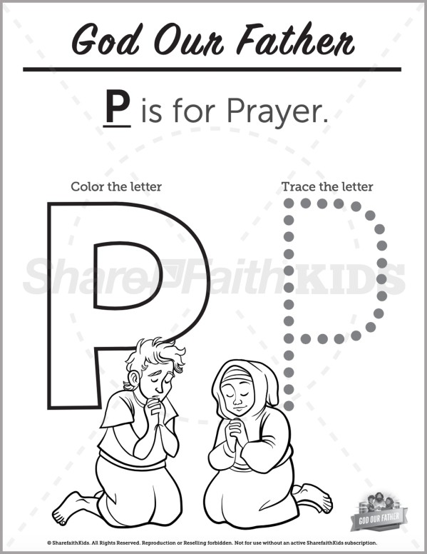 Matthew 6 God Our Father Preschool Letter Coloring