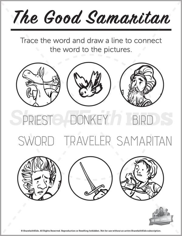 Luke 10 The Good Samaritan Preschool Word Picture Match