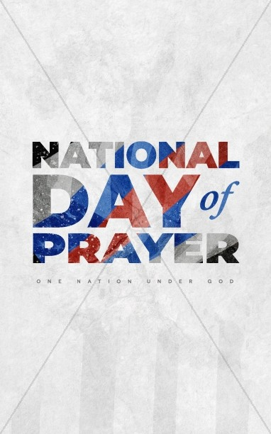 National Day Of Prayer Nation Church Bifold Bulletin