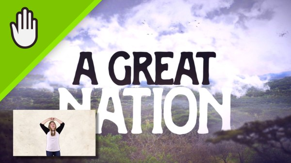 A Great Nation Kids Worship Video for Kids Hand Motions