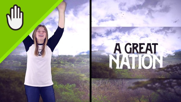A Great Nation Kids Worship Video for Kids Hand Motions Split Screen