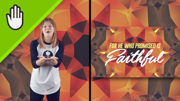 He Is Faithful Kids Worship Video for Kids Hand Motions Split Screen