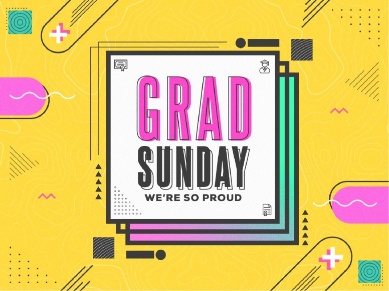 Grad Sunday Yellow Church PowerPoint