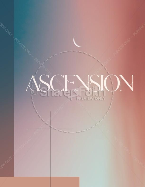 Jesus' Ascension Pink Blue Church Flyer