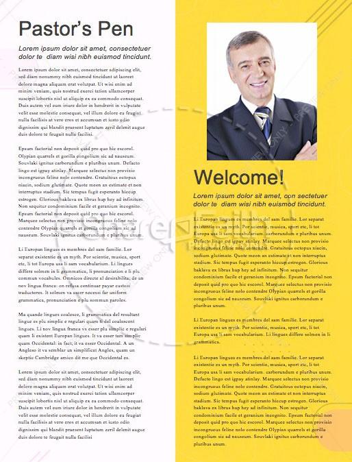 Grad Sunday Yellow Church Newsletter