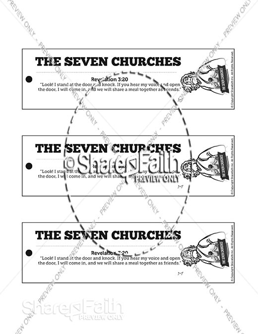 Revelation 2 3 The Seven Churches Bible Bookmarks