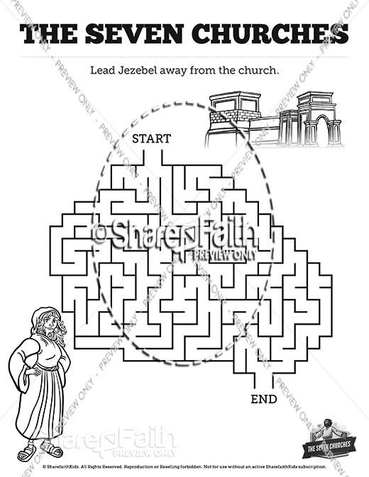 Revelation 2 3 The Seven Churches Bible Mazes