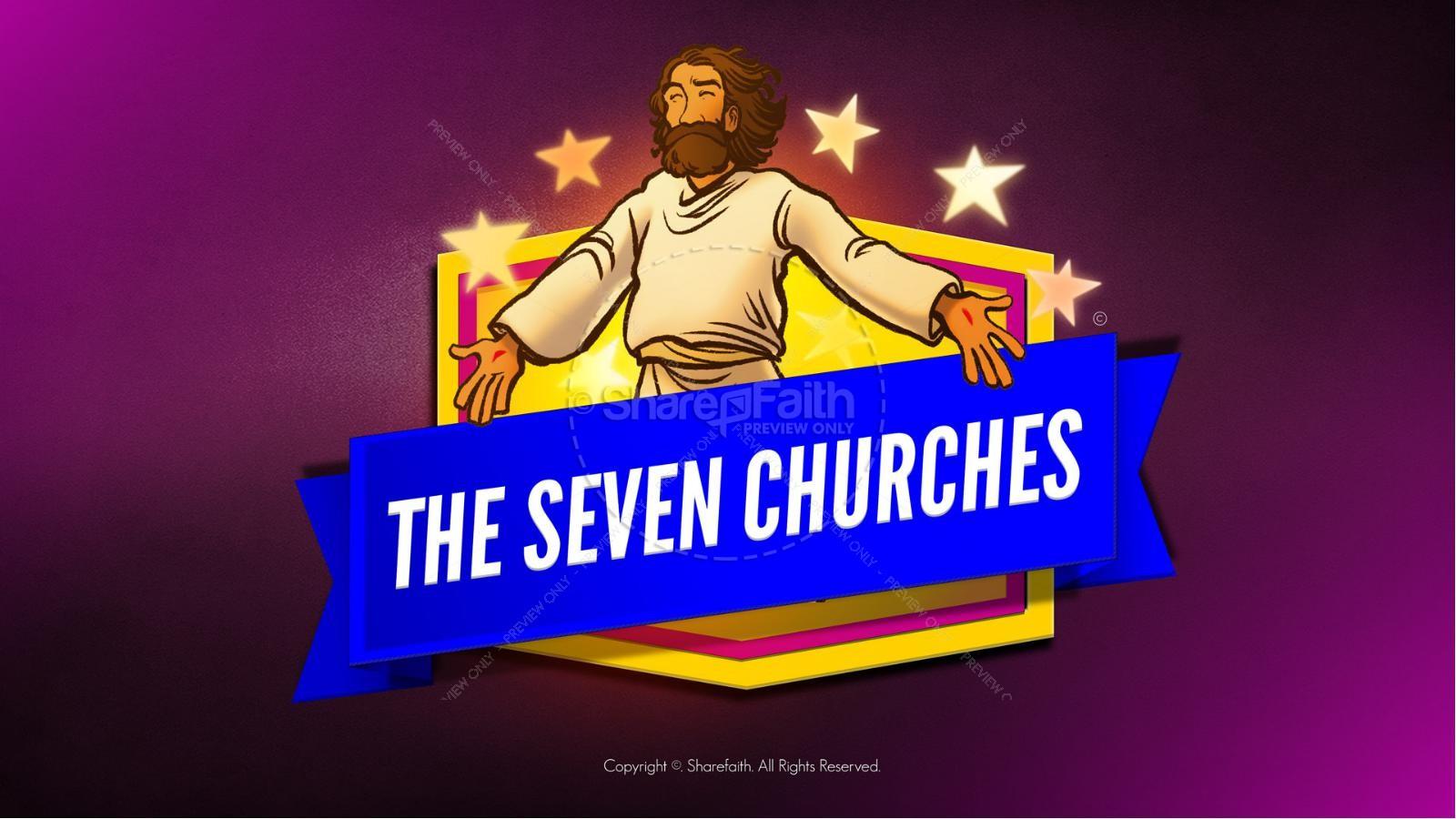 Revelation 2 3 The Seven Churches Kids Bible Story | slide 1