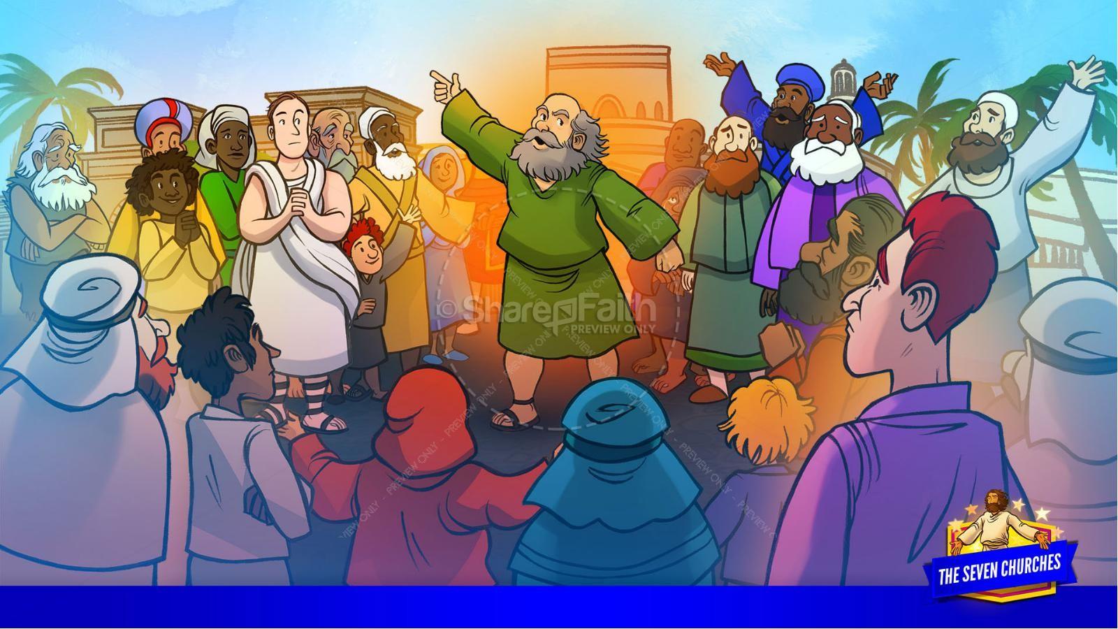 Revelation 2 3 The Seven Churches Kids Bible Story   slide 11