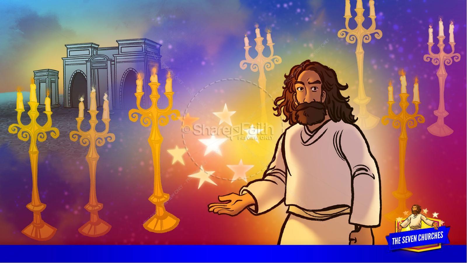 Revelation 2 3 The Seven Churches Kids Bible Story | slide 15