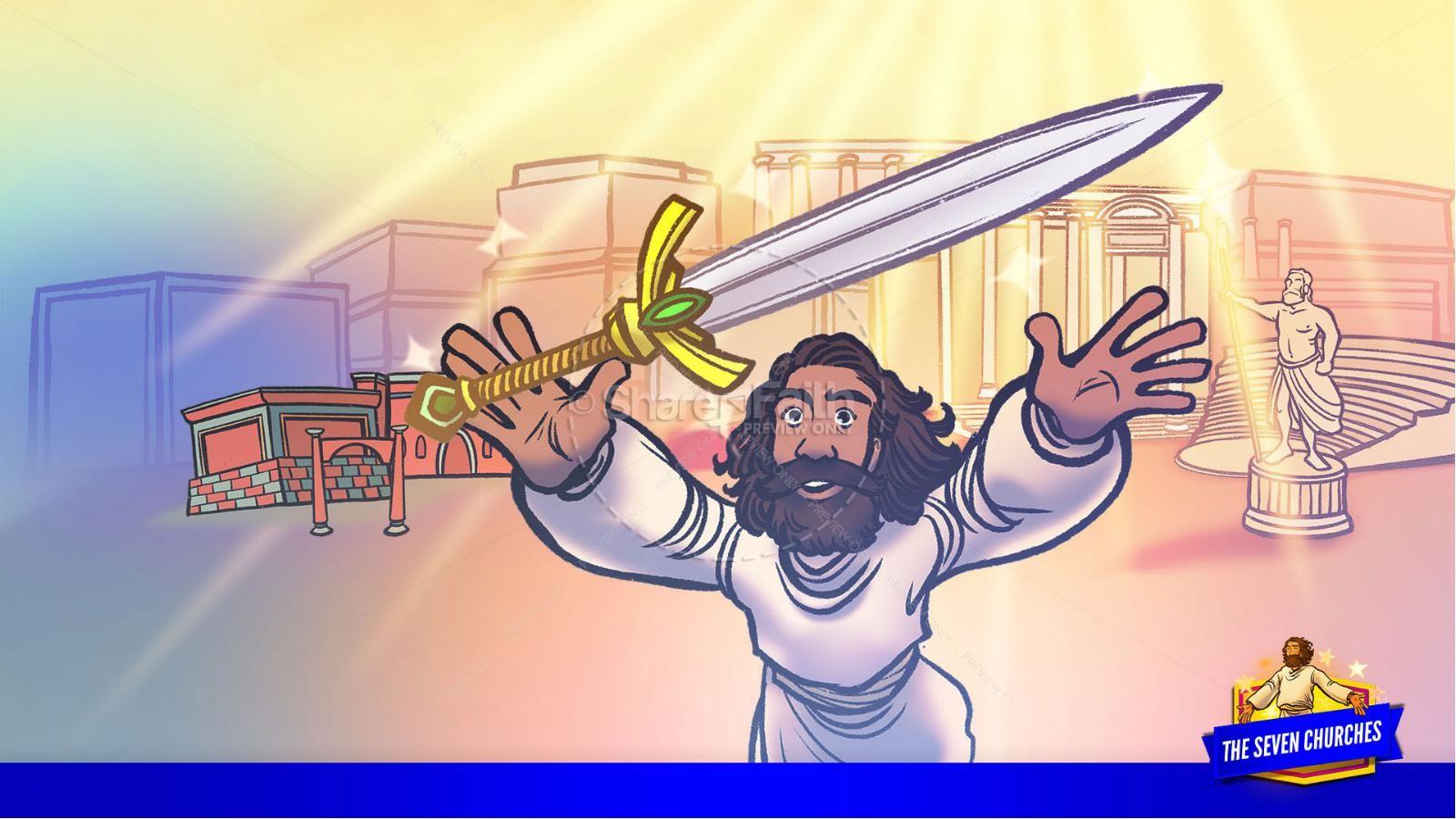 Revelation 2 3 The Seven Churches Kids Bible Story | slide 23