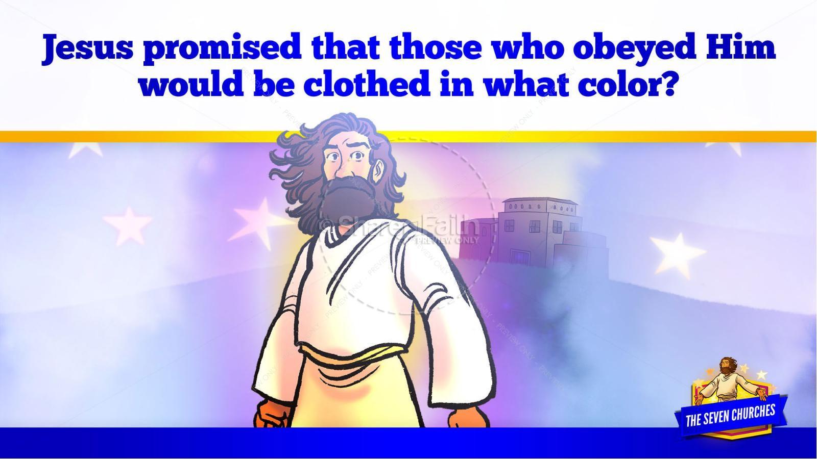 Revelation 2 3 The Seven Churches Kids Bible Story | slide 32